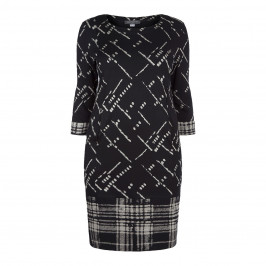 Georgedé MONOCHROME PRINT SHIFT DRESS - Plus Size Collection