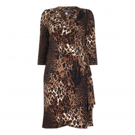 GEORGEDÉ ANIMAL PRINT WRAP STYLE DRESS - Plus Size Collection