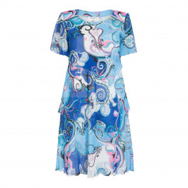 GEORGEDE PAISLEY PRINT CHIFFON LAYER DRESS - Plus Size Collection