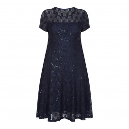 Georgedé NAVY SEQUIN AND LACE DRESS - Plus Size Collection