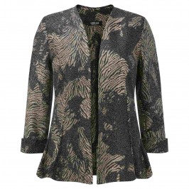 GEORGEDé BLACK AND GOLD JACQUARD JACKET - Plus Size Collection
