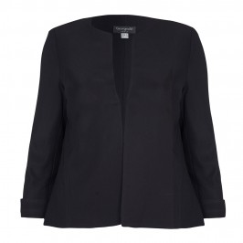 GEORGEDE black fine rib JACKET with stretch - Plus Size Collection