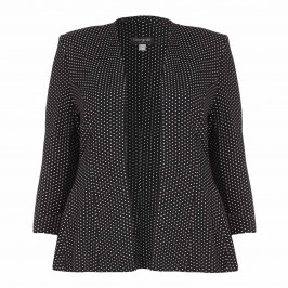 GEORGEDÉ polka dot peplum JACKET - Plus Size Collection