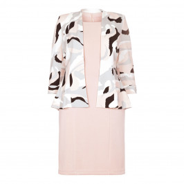 GEORGEDÉ nude print JACKET & plain DRESS - Plus Size Collection