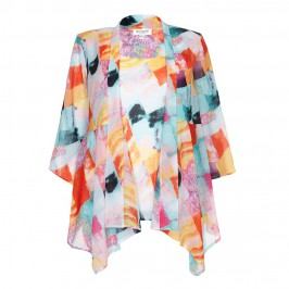 GEORGEDÉ bright print JACKET and top - Plus Size Collection