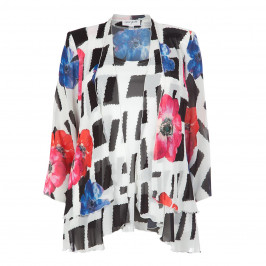 GEORGEDE ANEMONE PRINT JACKET AND VEST TWINSET - Plus Size Collection