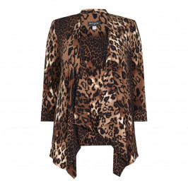 Georgedé Long Animal Print Jacket - Plus Size Collection