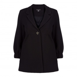 Georgedé BLACK JACQUARD JACKET  - Plus Size Collection