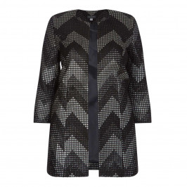 Georgedé METALLIC CHEVRON LONGLINE JACKET - Plus Size Collection