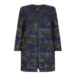 Georgedé BROCADE LONGLINE JACKET - Plus Size Collection