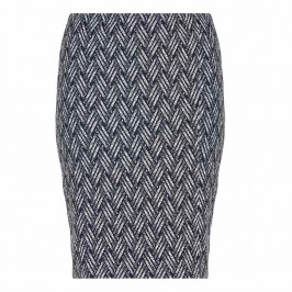 GEORGEDE BLACK PATTERN JACQUARD PENCIL SKIRT - Plus Size Collection