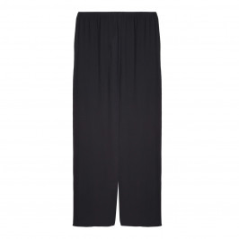 BEIGE LABEL BLACK CHIFFON TROUSERS  - Plus Size Collection