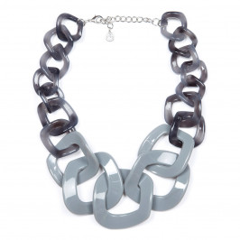 GIUNO GREY INTERLOCK NECKLACE - Plus Size Collection
