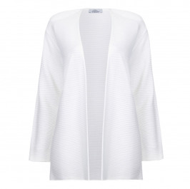 KARIN HORIZONTAL STRIPED WHITE CARDIGAN  - Plus Size Collection
