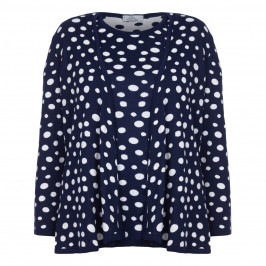 KARIN NAVY POLKA DOT CARDIGAN + SWEATER  - Plus Size Collection