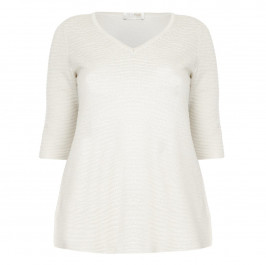 KARIN STRUCTURED V-NECK SWEATER  - Plus Size Collection