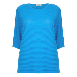 KARIN BLUE ULTRALIGHT HORIZONTAL STRIPE SWEATER  - Plus Size Collection