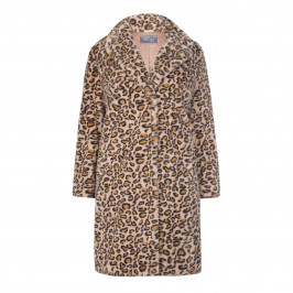 WHITE LABEL LEOPARD COAT - Plus Size Collection