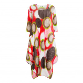 MASHIAH ABSTRACT PRINT DRESS