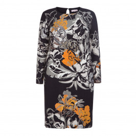 MORETTI EMBELLISHED PRINT DRESS - Plus Size Collection
