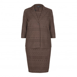 HABELLA Broderie Anglaise Dress and Jacket - Plus Size Collection