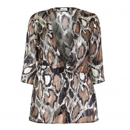 HABELLA ANIMAL PRINT DEVORE JACKET - Plus Size Collection