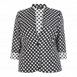 HABELLA PRINCESS CUT POLKA DOT JACKET  - Plus Size Collection