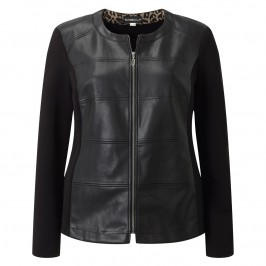 Habella PLEATHER FITTED JACKET - Plus Size Collection