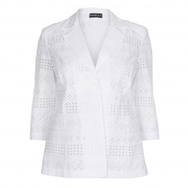 HABELLA white broderie anglaise JACKET - Plus Size Collection