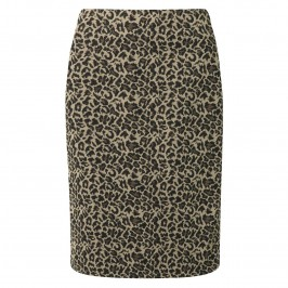 Habella LEOPARD JACQUARD PENCIL SKIRT - Plus Size Collection