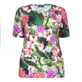 HABELLA pink floral print T-SHIRT - Plus Size Collection