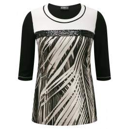 HABELLA sequined detail print T SHIRT - Plus Size Collection