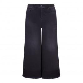 ASHLEY GRAHAM X MARINA RINALDI BLACK DENIM CULOTTES - Plus Size Collection
