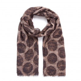 INDINI SPOT SCARF BROWN - Plus Size Collection