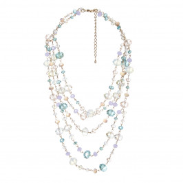 ADELE MARIE multicoloured glass beads NECKLACE - Plus Size Collection