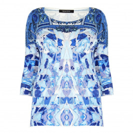 Imagini blues abstract print SWEATER - Plus Size Collection