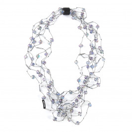 JIANHUI IRIDESCENT BEAD NECKLACE - Plus Size Collection