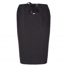 PER TE BY KRIZIA PINSTRIPE BLACK SKIRT - Plus Size Collection