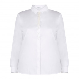 PER TE BY KRIZIA BLOUSE WITH PEARL PLACKET - Plus Size Collection