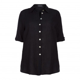 BEIGE label BLACK LINEN SHIRT - Plus Size Collection