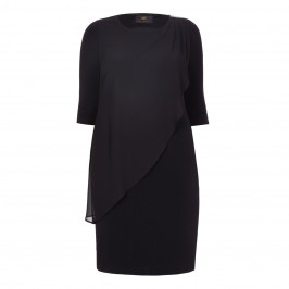 KIRSTEN KROG BLACK CHIFFON LAYER DRESS - Plus Size Collection