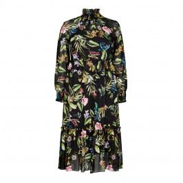 KIRSTEN KROG FRILL COLLAR FLORAL PRINT DRESS - Plus Size Collection