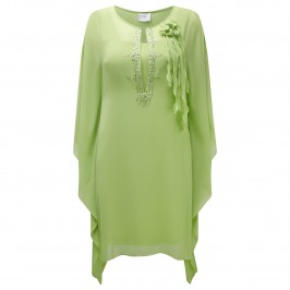 KIRSTEN KROG lime green chiffon kaftan DRESS - Plus Size Collection