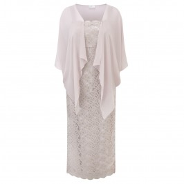 KIRSTEN KROG lace Dress And chiffon Shrug - Plus Size Collection