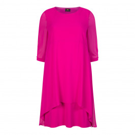 KIRSTEN KROG GEORGETTE LAYER DRESS CERISE - Plus Size Collection