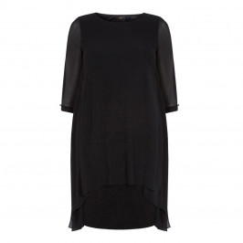 KIRSTEN KROG BLACK CHIFFON DRESS - Plus Size Collection