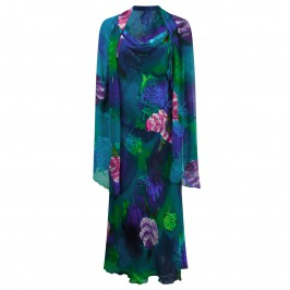 KIRSTEN KROG SILK DEVORé DRESS & STOLE - Plus Size Collection