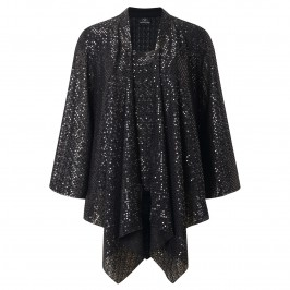 KIRSTEN KROG black sequined Jacket and Vest - Plus Size Collection