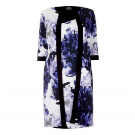 KIRSTEN KROG ABSTRACT PRINT DRESS + LONG JACKET - Plus Size Collection