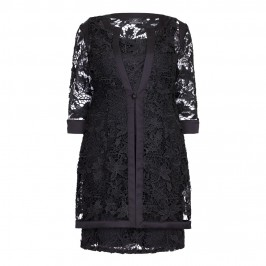 KIRSTEN KROG black lace JACKET & DRESS - Plus Size Collection